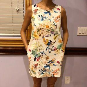 Zara floral mini shift dress